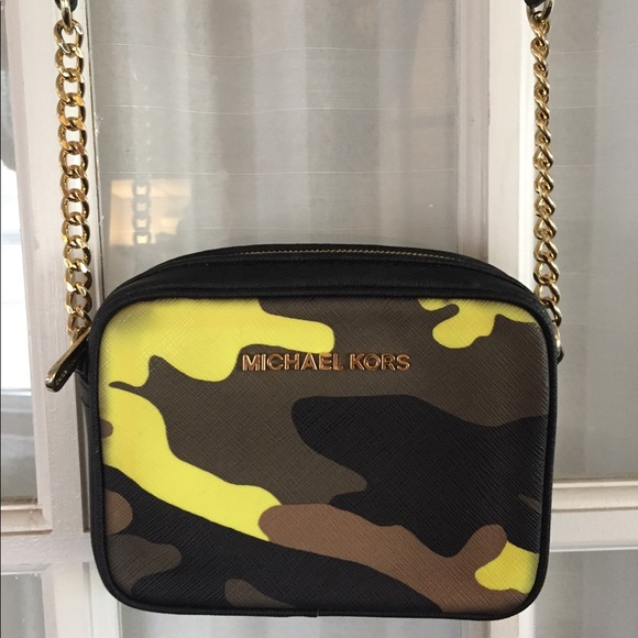 Michael Kors camo crossbody bag
